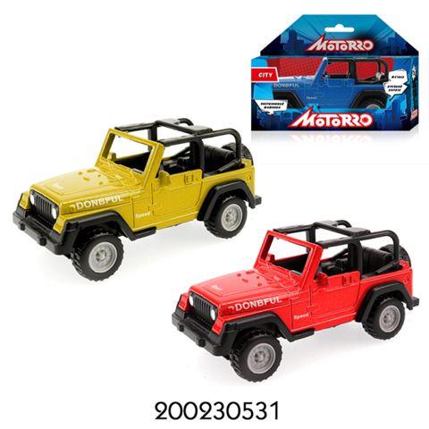 200230531 Машинка металл., 1:60, Motorro, Джип, в ассортименте, без механизма,Длина машинки 7,5 см - фото товара