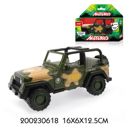 200230618 Машинка металл., 1:43, Motorro, Военная, откр. Дверь, 12 см, Без механизмов - фото товара