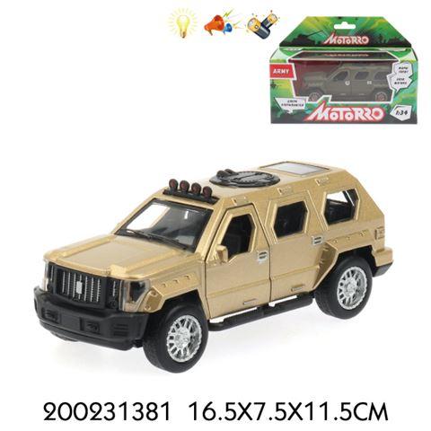 200231381 Машинка металл., 1:34, Motorro, Военная, откр. двери, свет/звук, МАШИНА 12 СМ, Инерция - фото товара
