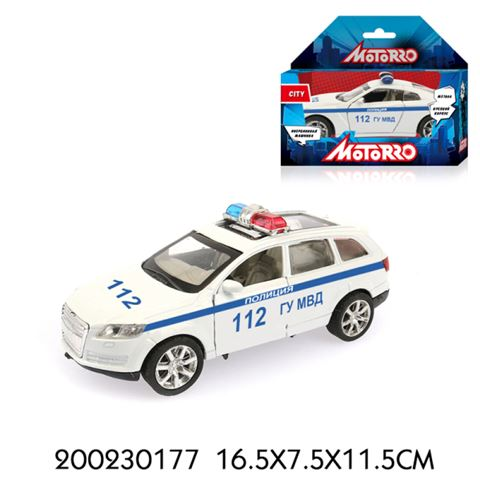 200230177 Машинка металл., 1:34, Motorro, Полиция, откр. двери - фото товара