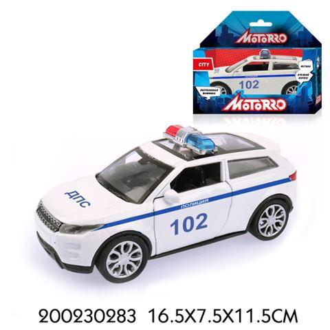 200230283 Машинка металл., 1:34, Motorro, Полиция, откр. двери - фото товара
