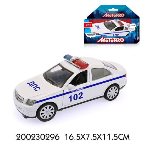 200230296 Машинка металл., 1:34, Motorro, Полиция, откр. двери - фото товара